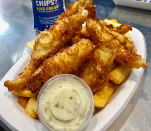 Whiting with Chips